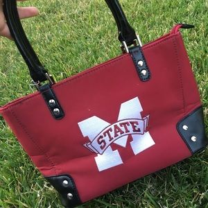 NWT Michigan state maroon and black studded purse